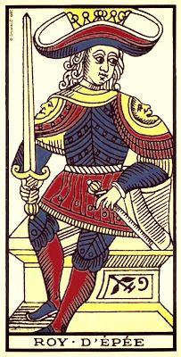 roi des épées tarot de marseille , bykokolou.com