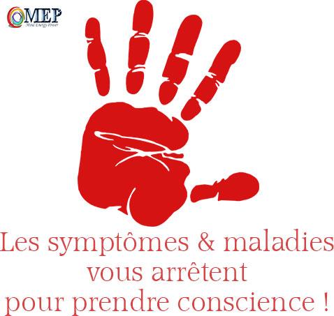 symptomes et maladies sont des signaux d'alerte