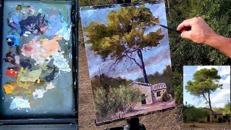 Comment faire les verts dans les paysages en peinture ?
