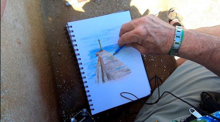 Apprendre le dessin et la peinture en voyage : Le carnet de voyage