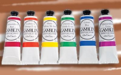 La peinture à l'huile GAMBLIN. Des couleurs vives et un séchage rapide