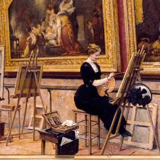 Apprendre la peinture en copiant les tableaux des grands maîtres