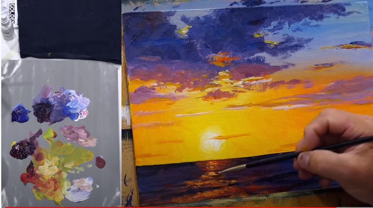 10 astuces pour réussir votre peinture de coucher de soleil