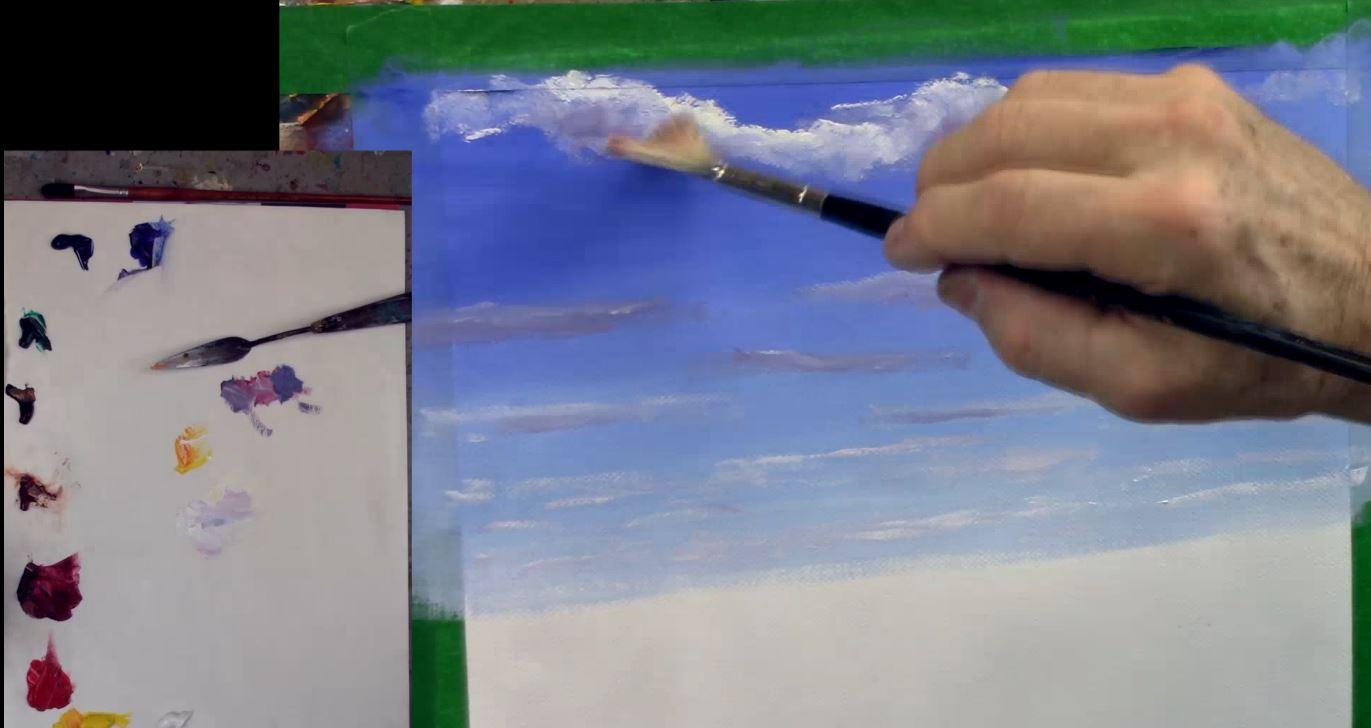 5 conseils pour réussir un ciel en peinture à l'huile
