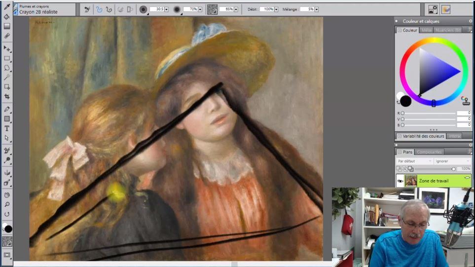 Cours de composition en peinture