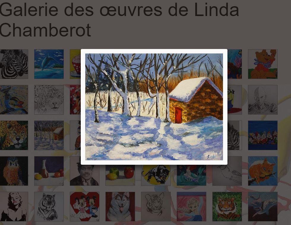 Partagez vos œuvres avec vos amis grâce à la galerie en ligne !