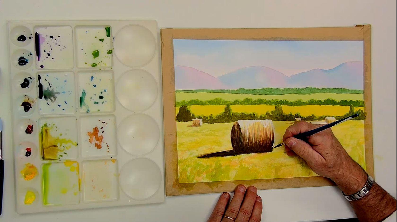 Portrait, aquarelle, dessin, couleurs sont les thèmes de cette semaine.