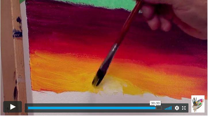 Peindre les ciels en peinture acrylique
