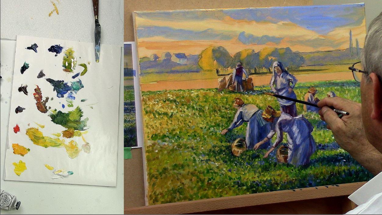 Peindre à la manière de Camille Pissarro