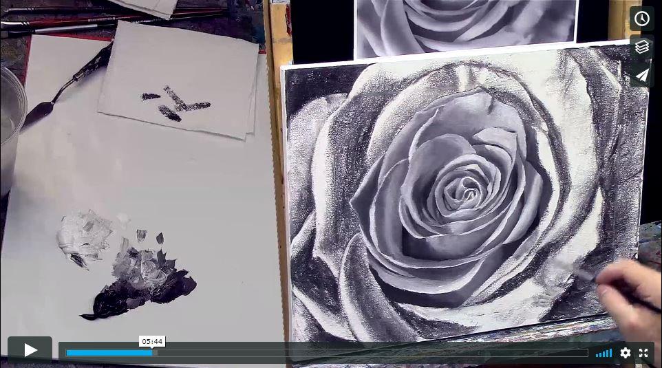 Les roses (suite) La détrempe