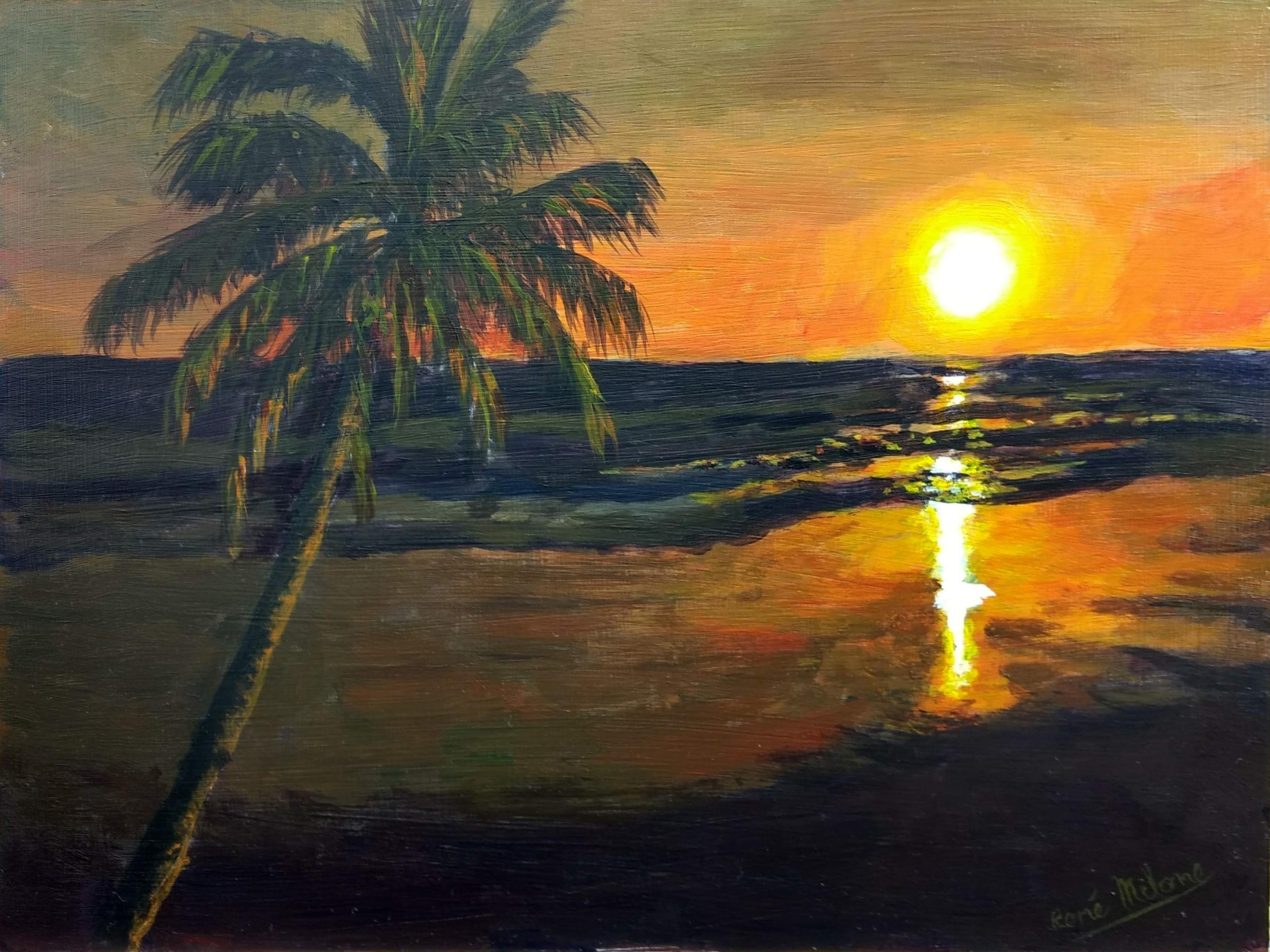 Comment peindre un magnifique soleil couchant ?
