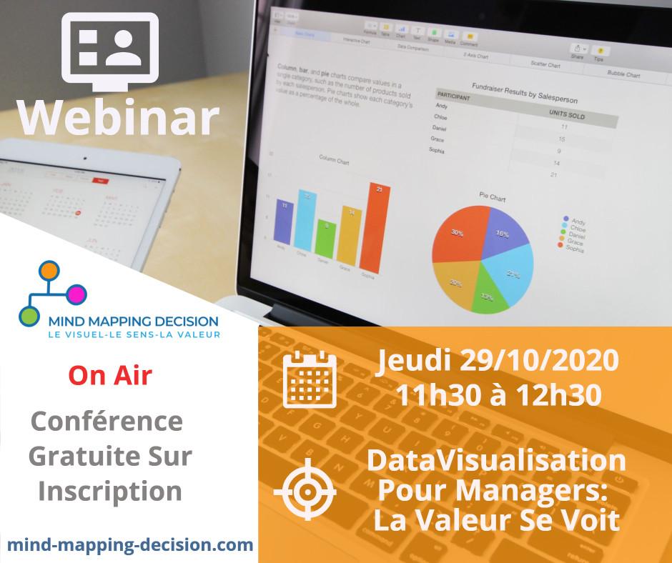 Webinar Gratuit Managers : Bénéfices de la DataVisualisation 3 Exemples