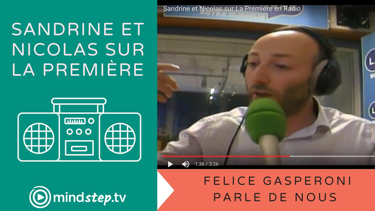 Sandrine et Nicolas sur La Première en Radio
