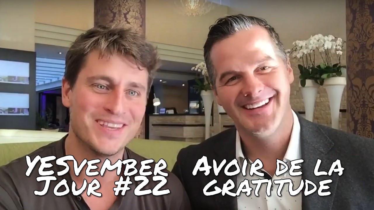 YESvember - Jour #22 : Avoir de la gratitude