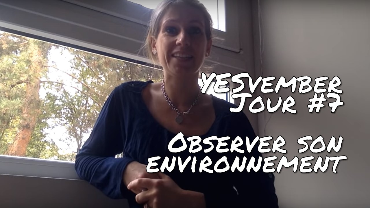 YESvember - Jour #7 : Observer votre environnement