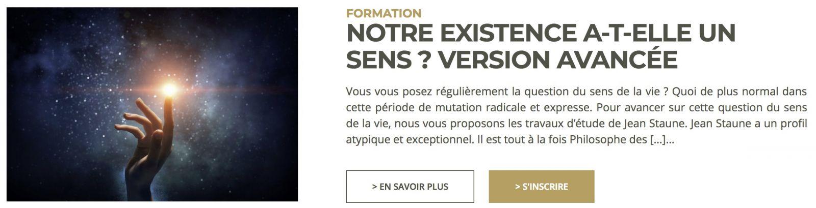Formation en ligne de Jean Staune - Notre existence a-t-elle un sens ? Version avancée