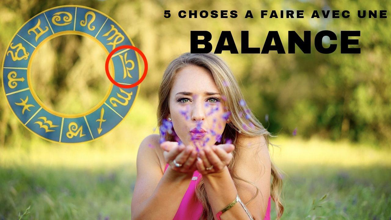 5 choses A  FAIRE avec une BALANCE