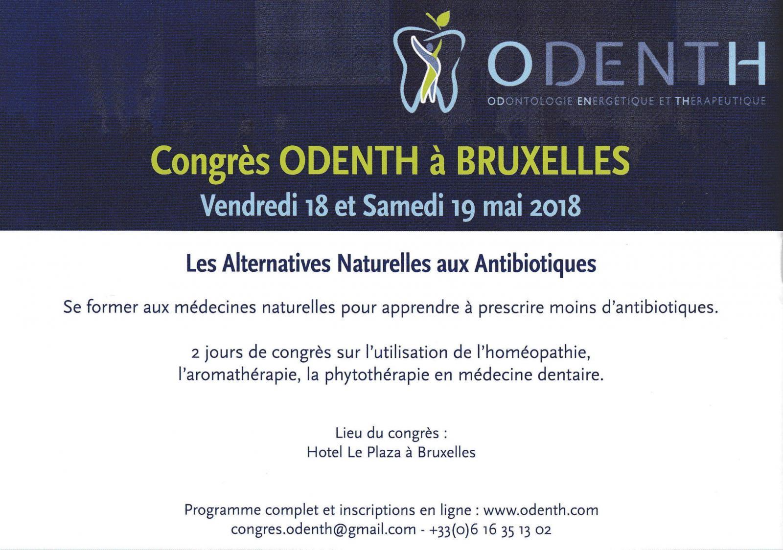 Congrès ODENTH à BRUXELLES
