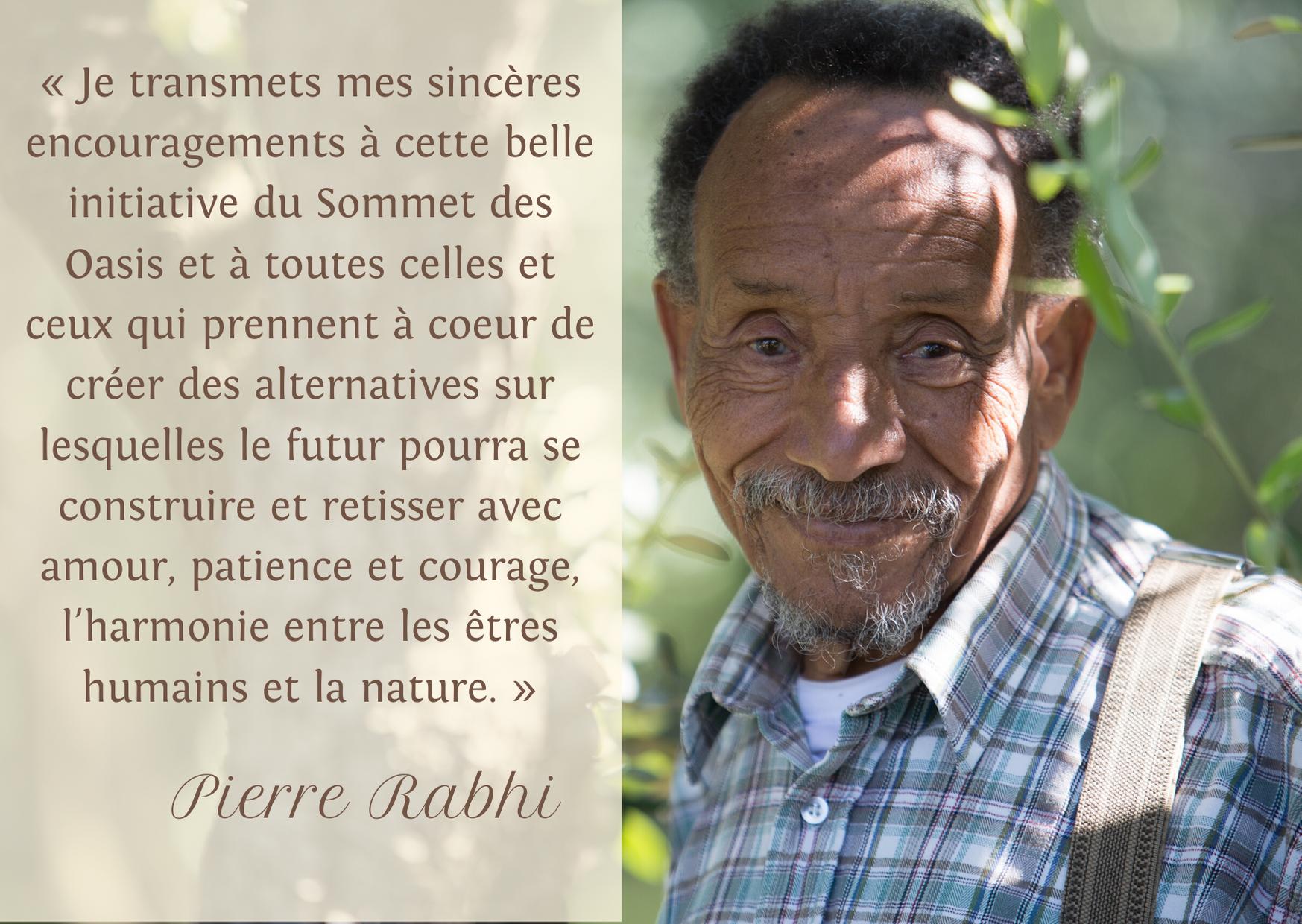 Soutien de Pierre Rabhi