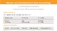 fiche pour savoir comment louer efficacement son parking