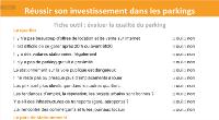 une fiche outil qui te permettra d'évaluer la qualité du parking