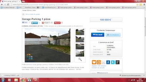 Annonce à Corbeil Essonne utilisée pour analyser un marché immobilier
