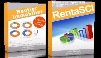 Jaquette de mes livre devenir rentier immobilier et renta SCI