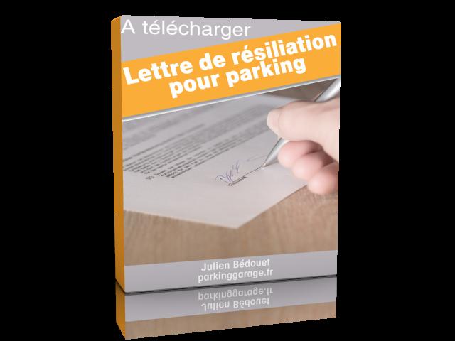 Jaquette d'une lettre de résiliation de parking gratuit à télécharger