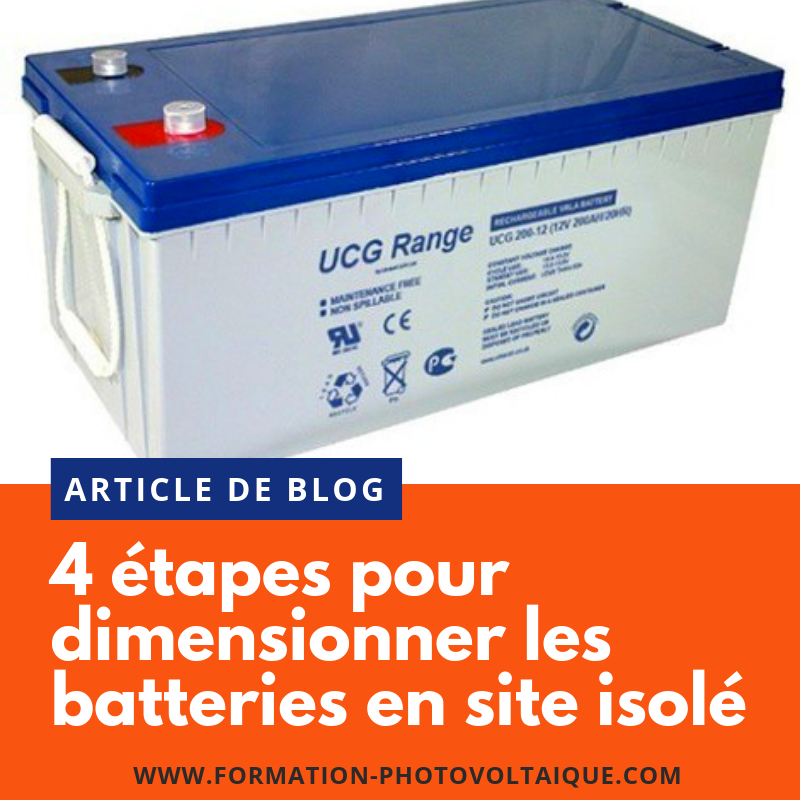 Batteries : les 4 étapes fondamentales du dimensionnement
