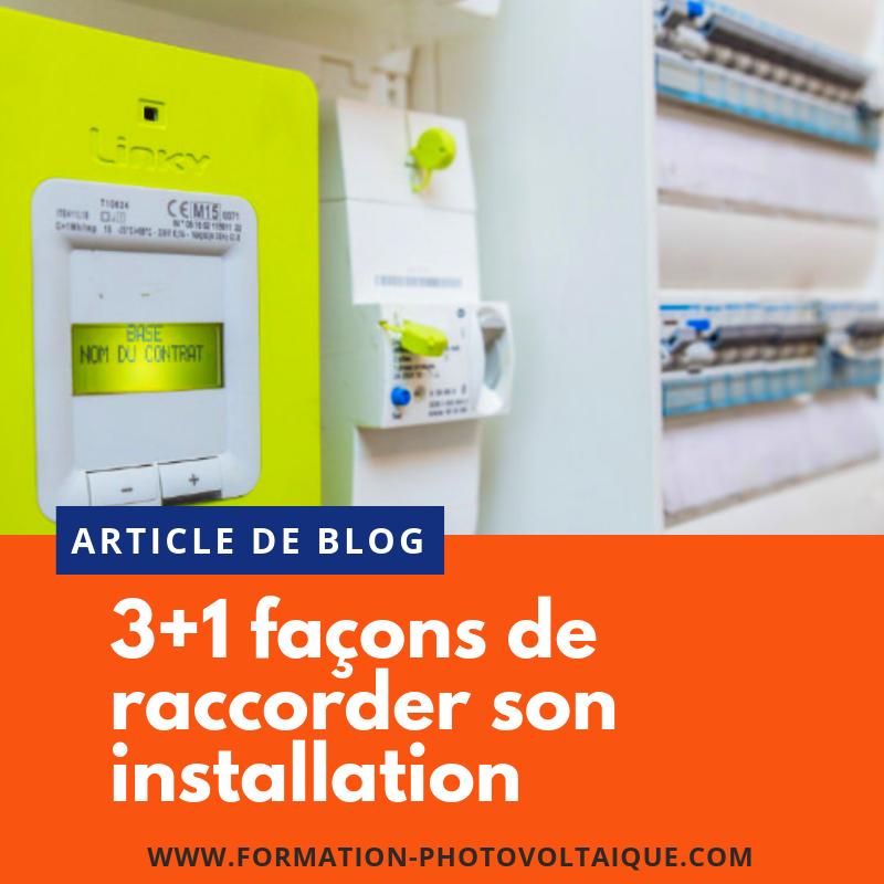 Comment raccorder son installation photovoltaïque au réseau électrique ?