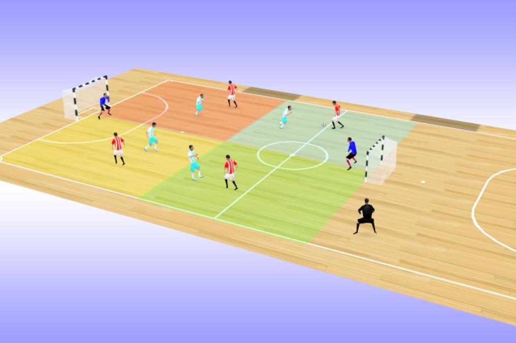 Exercice d'endurance en futsal