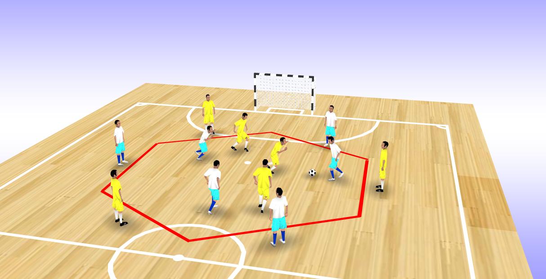 Exercice d'endurance pour les footballeurs seniors