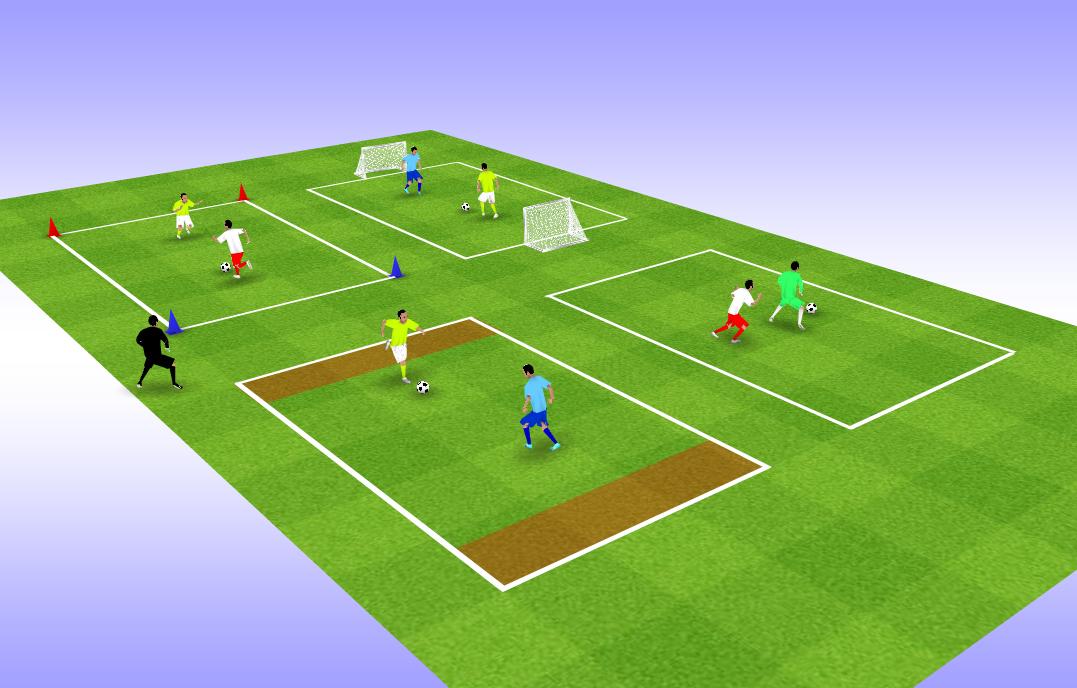 Exemple d'exercice de jeux réduits 1 vs 1