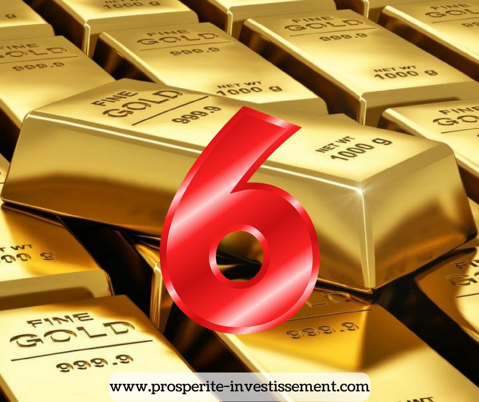 Six règles de base d'investissement !