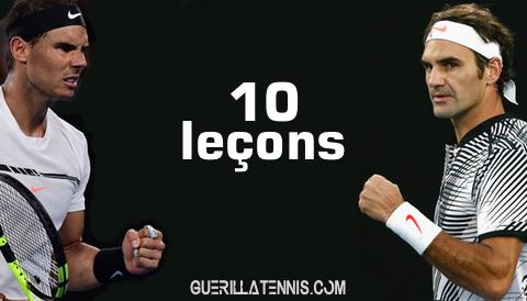 10 leçons inspirantes offertes par Nadal et Federer
