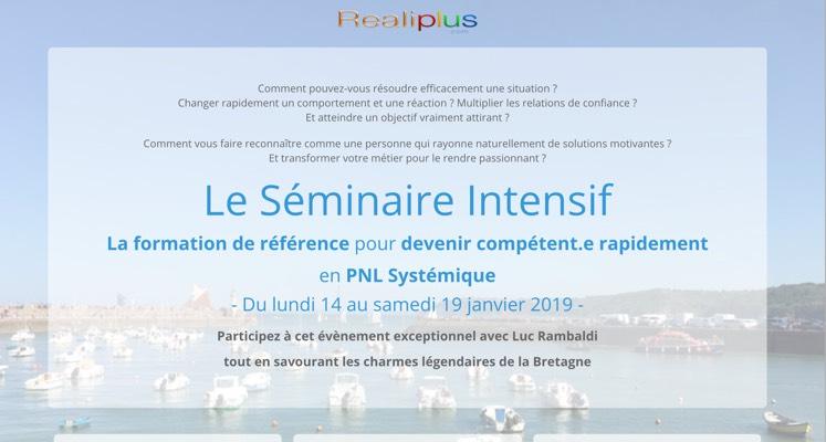 Réservez votre place au prochain Séminaire Intensif en PNL Systémique - C'est en Bretagne !