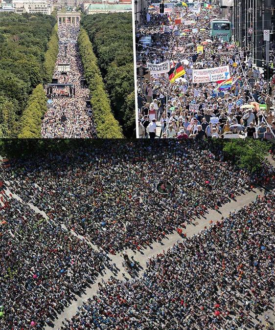 Protestation pandémique planifiée Berlin 1