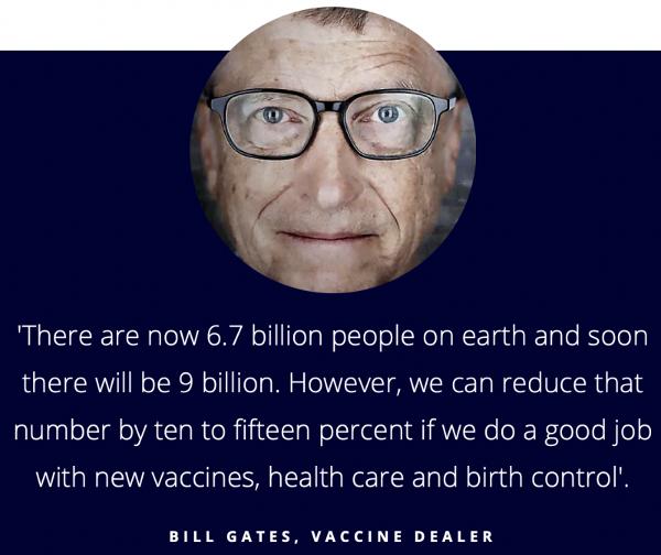 Bill Gates - dépopulationniste et revendeur de vaccins