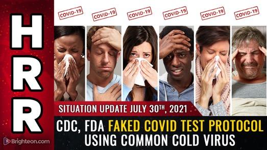 Image : RUPTURE : le CDC et la FDA ont falsifié le protocole de test « covid » en utilisant des cellules humaines mélangées à des fragments de virus du rhume… Les tests PCR ne font que détecter le rhume.