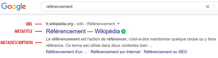 Exemple de résultat de recherche