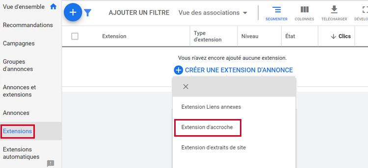 Extension d'annonce