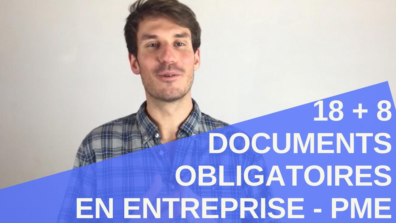[Vidéo] 18 + 8 documents Santé Sécurité au Travail obligatoires en Entreprise - PME