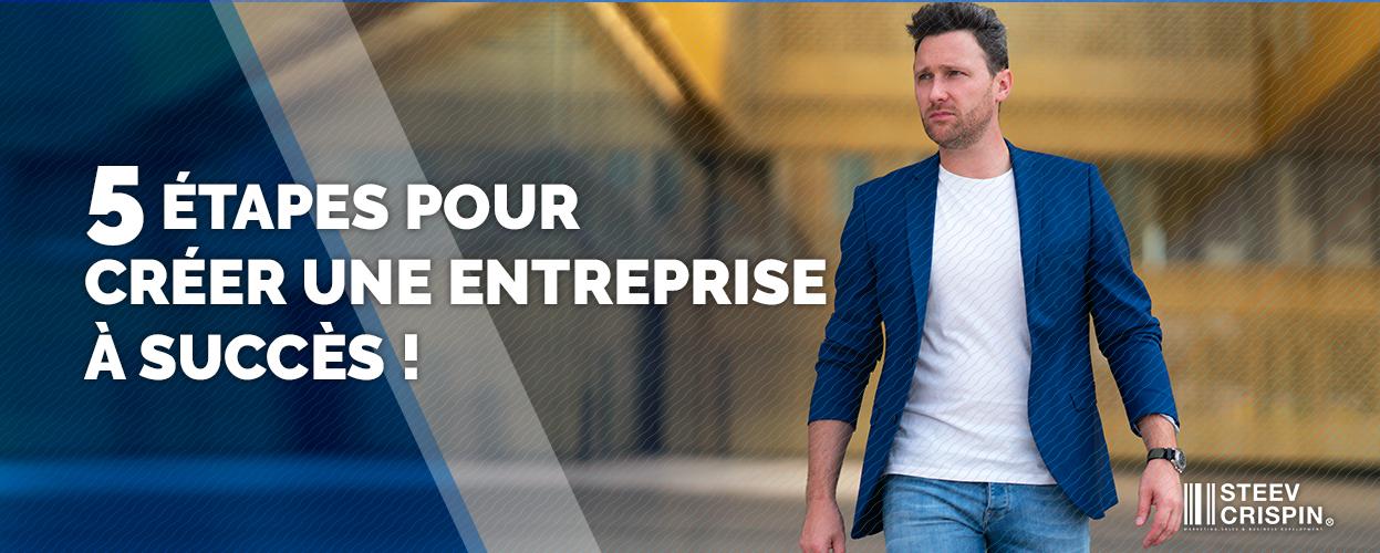 les 5 étapes incontournables pour créer une entreprise à succès !