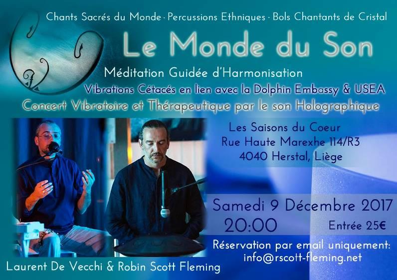 09/12/2017 - Liège (BEL) | Concert Vibratoire & Holographique, Fréquences Cristal, Cétacés