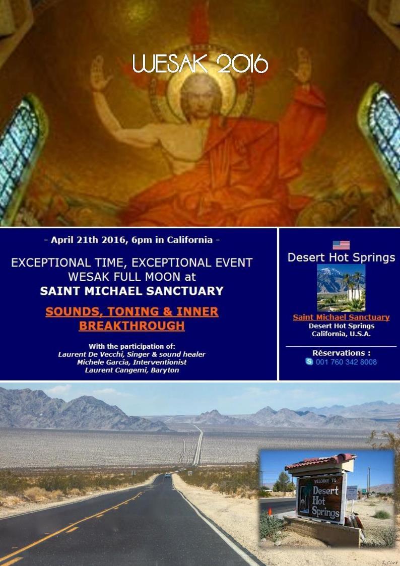 21/04/2016 - Desert Hot Springs (USA) | Wesak Sounds, Toning & Inner Breakthrough