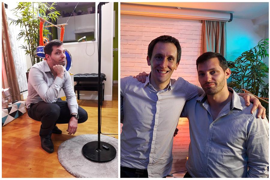 Thomas Gasio et Gabriel Miquet pendant la préparation du Live pour la petite Lou